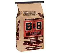 B&B Oak Lump Charcoal - 10 Lb