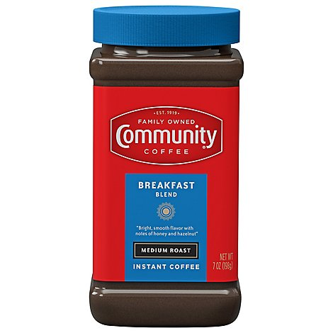 Community Coffee Coffee Instant Medium Roast Breakfast Blend - 7 Oz