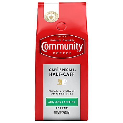 Community Coffee Coffee Ground Half-Caff - 12 Oz