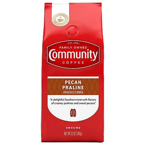 Community Coffee Coffee Ground Pecan Praline - 12 Oz