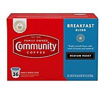 Community Coffee Coffee K-Cup Pods Medium Roast Breakfast Blend - 36 Count