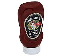 Melindas Ketchup Black Pepper - 14 Oz