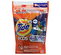 Tide Plus PODS Detergent Pacs 4In1 Febreze Odor Defense Active Fresh - 32 Count