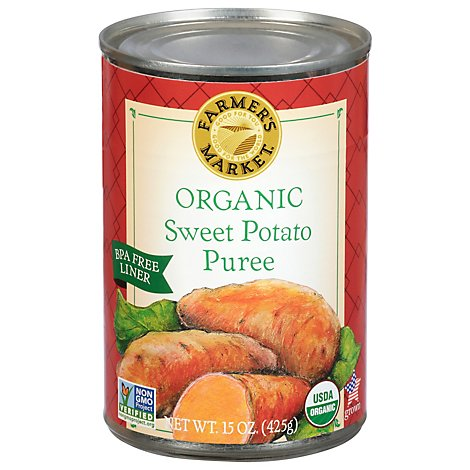 Farmers Market Organic Puree Sweet Potato - 15 Oz