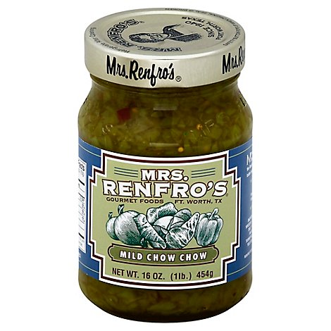 Mrs.Renfros Relish Chow Chow Mild - 16 Oz