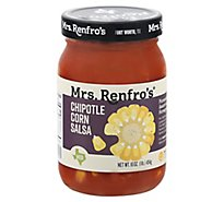 Mrs. Renfros Gourmet Salsa Medium Chipotle Corn Jar - 16 Oz