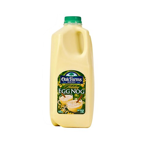 Oak Farms Dairy Egg Nog Holiday Half Gallon - 1.89 Liter