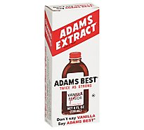 Adams Extract Adams Best Extract Vanilla Twice as Strong - 4 Fl. Oz.