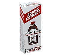 Adams Extract Adams Best Extract Vanilla Twice as Strong - 1.5 Fl. Oz.
