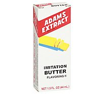Adams Extract Imitation Butter Flavor - 1.5 Fl. Oz.