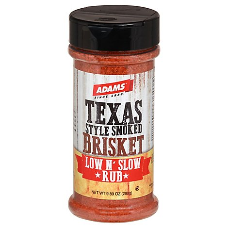 Adams Low N Slow Rub Texas Style Smoked Brisket - 9.89 Oz