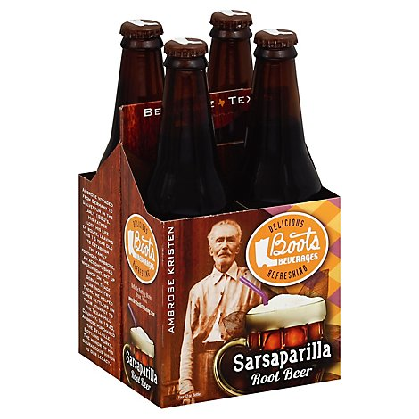 Boots Sarsaparilla Root Beer - 4-12 Fl. Oz.
