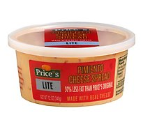 Prices Pimiento Cheese Spread Lite - 12 Oz.