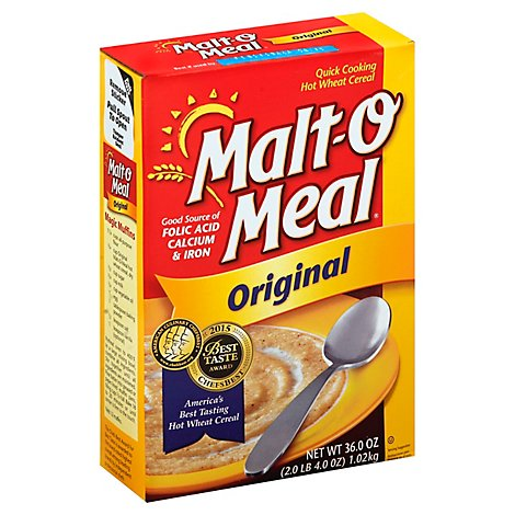 Malt O Meal Breakfast Cereal Hot Wheat Quick Cooking Original - 36 Oz