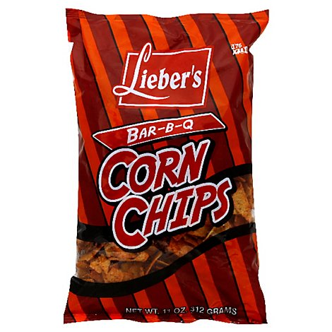 Liebers Corn Chips Bar B Q - 11 Oz