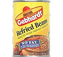 Gebhardt Beans Refried Mexican Style No Fat Can - 16 Oz