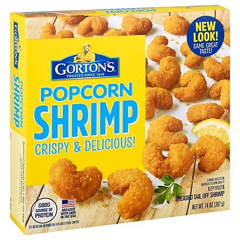 Gortons Popcorn Shrimp Crunchy Golden Breaded - 14 Oz