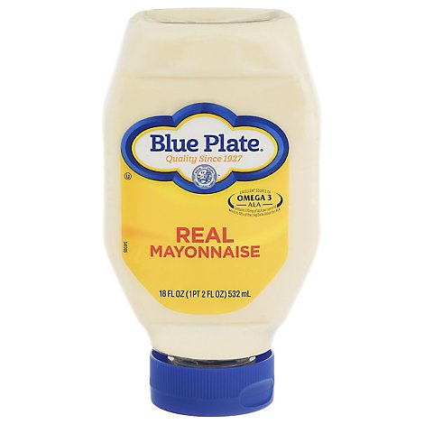 Blue Plate Real Mayonnaise Squeeze Bottle - 18 Fl. Oz.