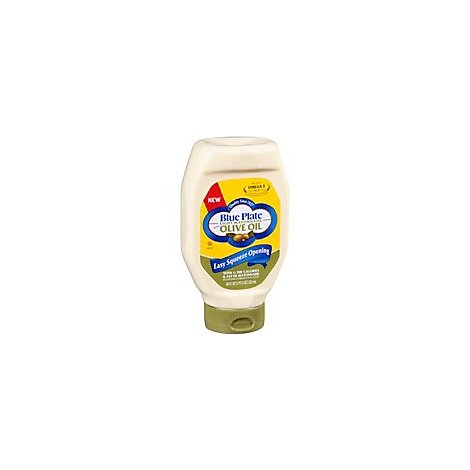 Blue Plate Mayonnaise Light with Olive Oil Squeeze Bottle - 18 Fl. Oz.