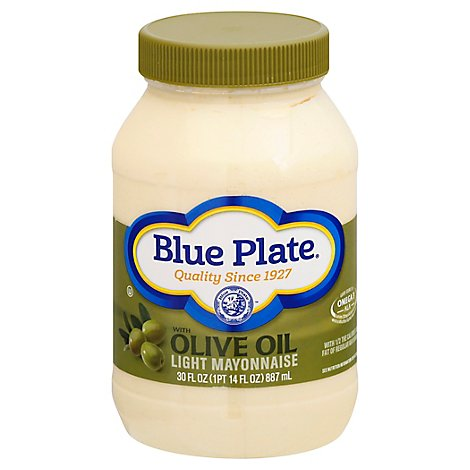 Blue Plate Mayonnaise Light with Olive Oil  - 30 Fl. Oz.