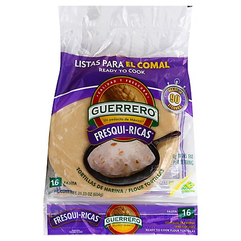 Guerrero Tortillas Flour Fajita De Harina Fresqui Ricas Bag 16 Count 21 33 Oz Tom Thumb