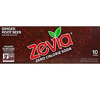 Zevia Root Beer Ginger Zero Calorie Soda - 10-12 Fl. Oz.