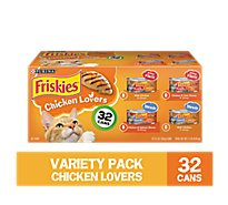 Friskies Cat Food Chicken Lovers Variety Pack Box - 32-5.5 Oz