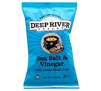 Deep River Sea Salt & Vinegar Kettle Cooked Potato Chips - 2 Oz