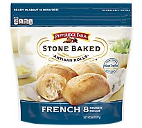 Pepperidge Farm Dinner Rolls Stone Baked Artisan French 8 Count - 14 Oz