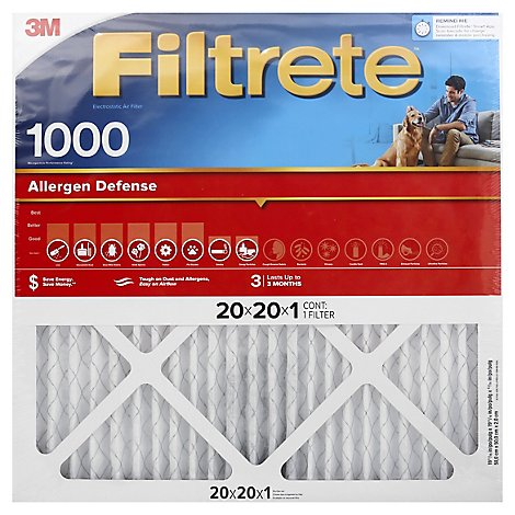 3M Filter 20 X 20 X 1 In - Each