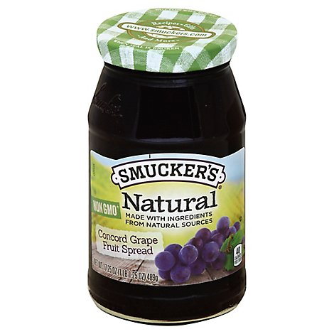 Smuckers Natural Fruit Spread Concord Grape - 17.25 Oz
