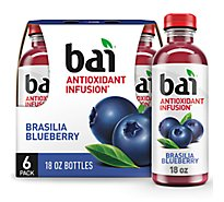 bai Antioxidant Infusion Beverage Brasilia Blueberry - 6-18 Fl. Oz.
