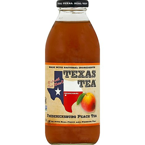 TEXAS TEA Peach Tea Frederickburg - 16 Fl. Oz.