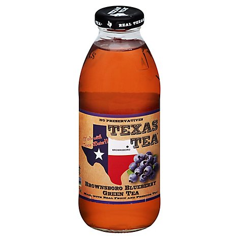 TEXAS TEA Green Tea Brownsboro Blueberry - 16 Fl. Oz.