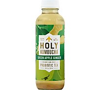 Holy Kombucha Green Apple Ginger - 16.9 Fl. Oz.