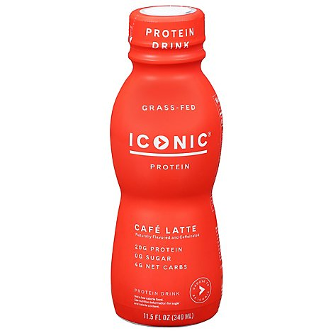 ICONIC Protein Drink Cafe Au Lait - 11.5 Fl. Oz.