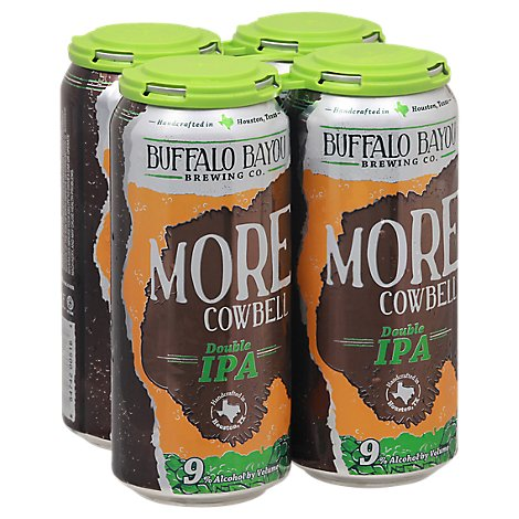 Buffalo Bayou More Cowbell Dbl Ipa In Cans - 4-16 Fl. Oz.