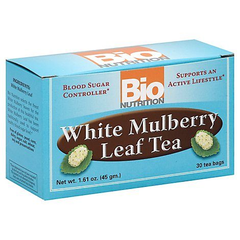 Bio Nutrition Leaf Tea White Mulberry Tea Bags 30 Count - 1.61 Oz
