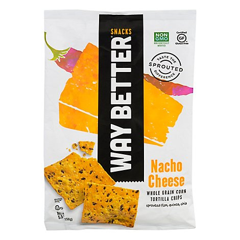Way Better Snacks Tortilla Chips Nacho Cheese - 5.5 Oz