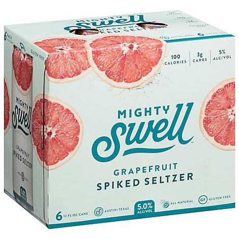 Mighty Swell Grapefruit 6pk In Cans - 6-12 Fl. Oz.