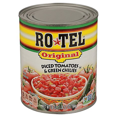 RO-TEL Tomatoes Diced & Green Chilies Original - 28 Oz