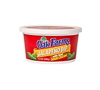 Oak Farms Jalapeno Dip With Sour Cream - 12 Oz