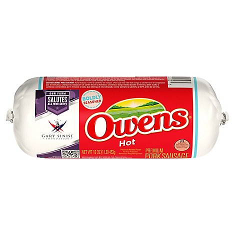 Owens Sausage Hot - 16 Oz