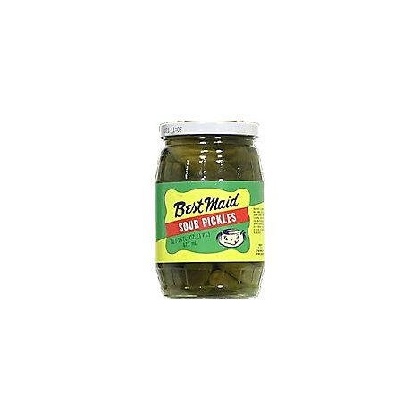 Best Maid Pickles Sour - 16 Fl. Oz.