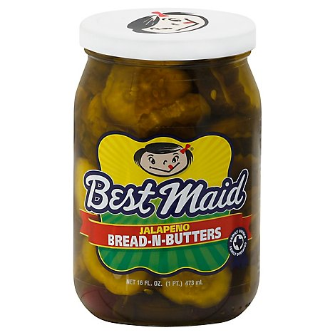 Best Maid Jalapeno Bread-N-Butters - 16 Fl. Oz.