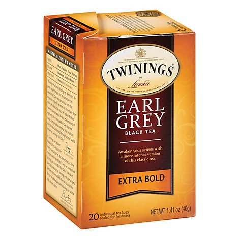 Twinings of London Black Tea Earl Grey Extra Bold - 20 Count