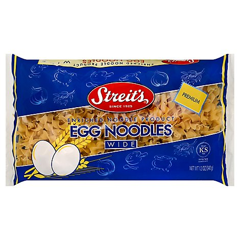Streits Broad Egg Noodles - 12 Oz