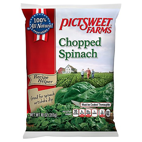 Pictsweet Farms Spinach Chopped Recipe Helper - 10 Oz