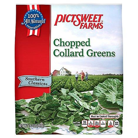 Pictsweet Farms Collard Greens Chopped Southern Classic - 14 Oz