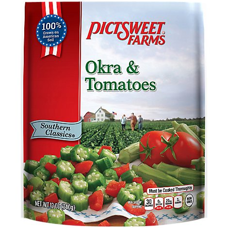 Pictsweet Farms Okra & Tomatoes All Natural - 16 Oz